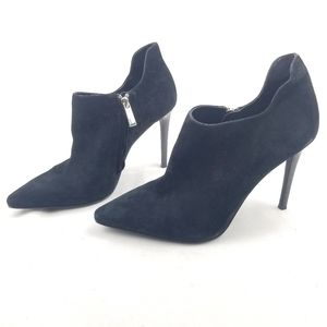Michael Kors Pointed Toe Suede Stiletto Booties